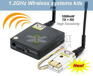 LawMate TM121800 1 2GHz 1000mW 8Ch Wireless Video Transmitter and Receiver Combo