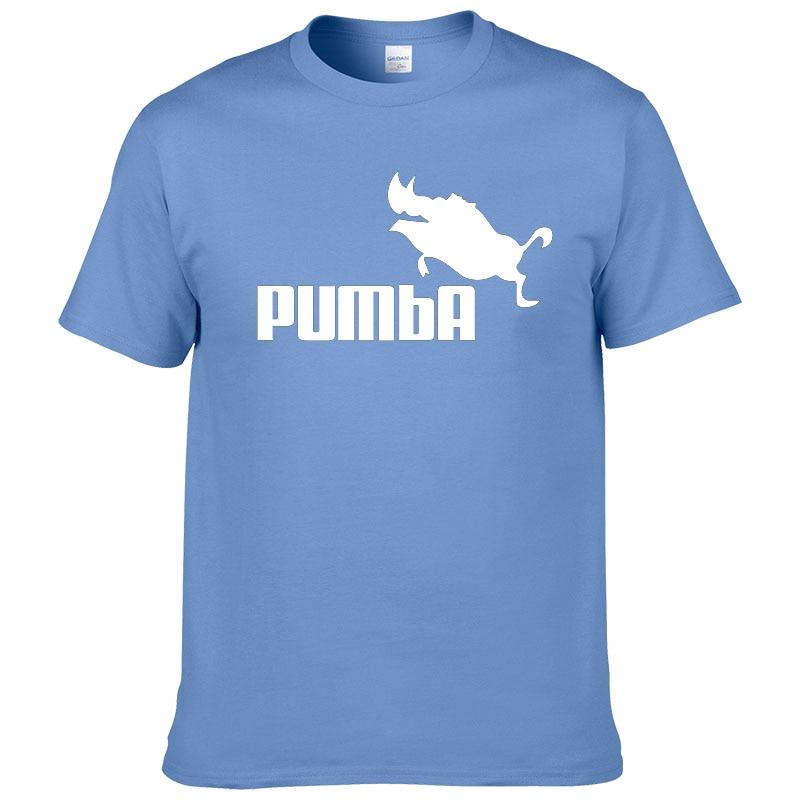 t-shirt pumba homme bleu clair