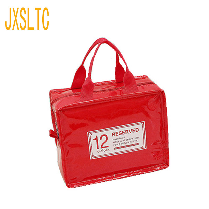 JXSLTC Brand Thermal Lunch Bag Picnic Storage Bag Insulated Ice Packing Wine Lunch Box Cool Fresh Food Thermos Handbag Ice Bags