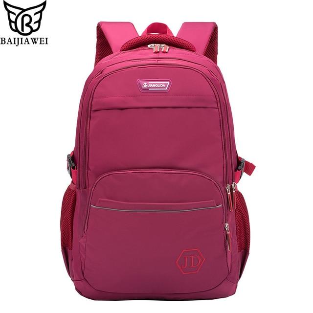 803c02913490 BAIJIAWEI New Simple Children School Bag Boys Girls Casual Waterproof Backpack  Large Capacity Shoulder Bags Kids Bag