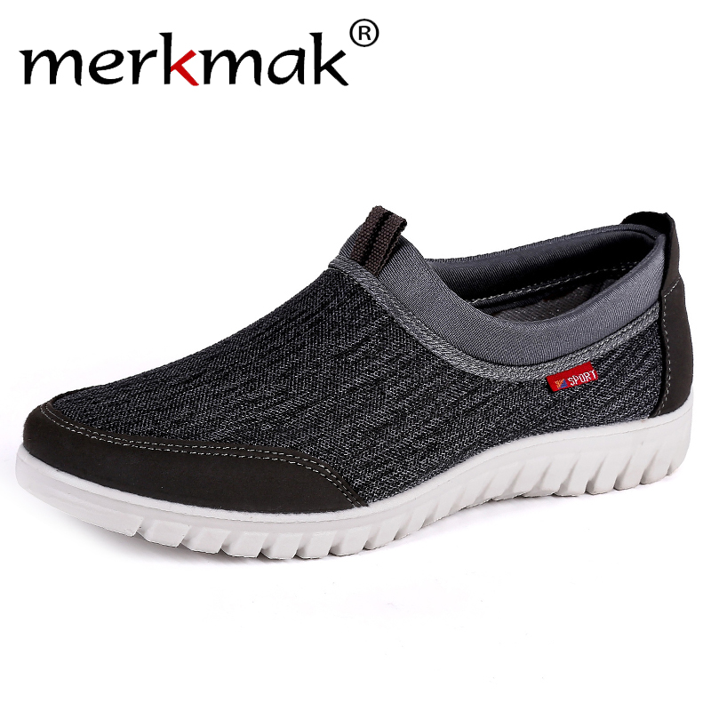 2019 Men's Casual Shoes Sneakers Summer Mesh Breathable Comfortable Men Shoes Loafers Footwears Slip On Walking Big Size 38-48