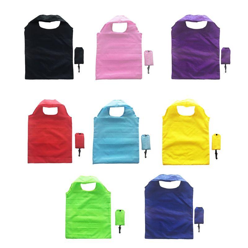 Fashion New Men Women Foldable Pouch Grocery Tote Bag Shopping Bag Multifunction Eco Storage Folding Organizer Reusable Hnadbag