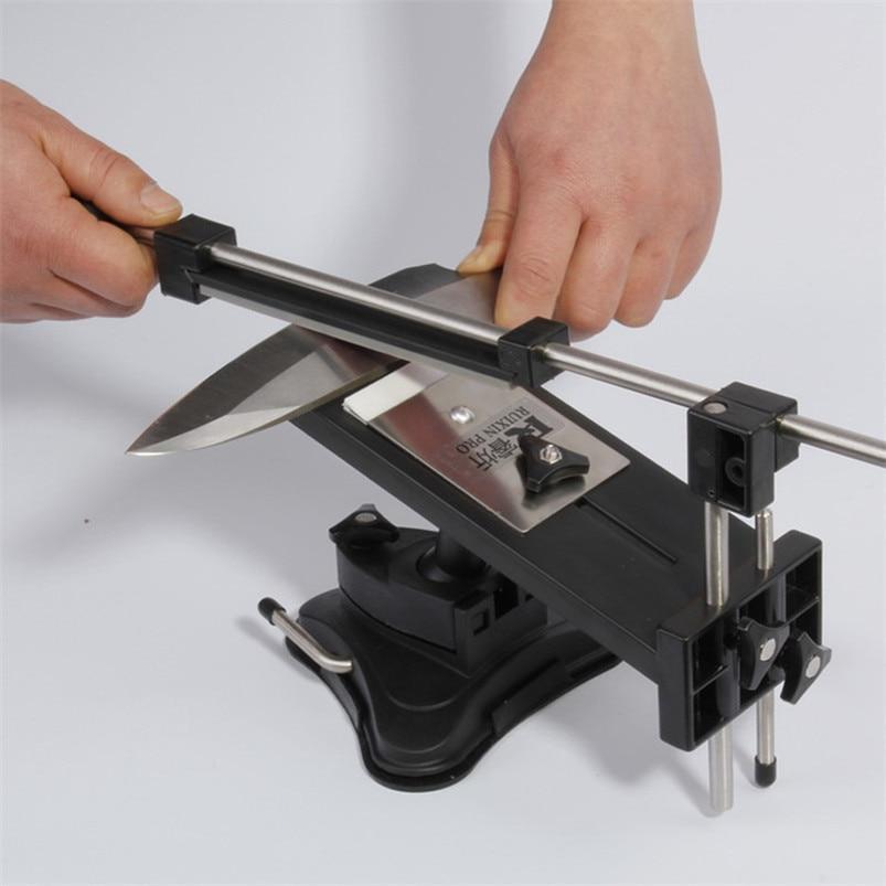 Affûteuse de couteau en acier de fer de haute qualité affûteuse de couteau de cuisine professionnelle système d'affûtage Angle fixe fixe avec 4 pierres