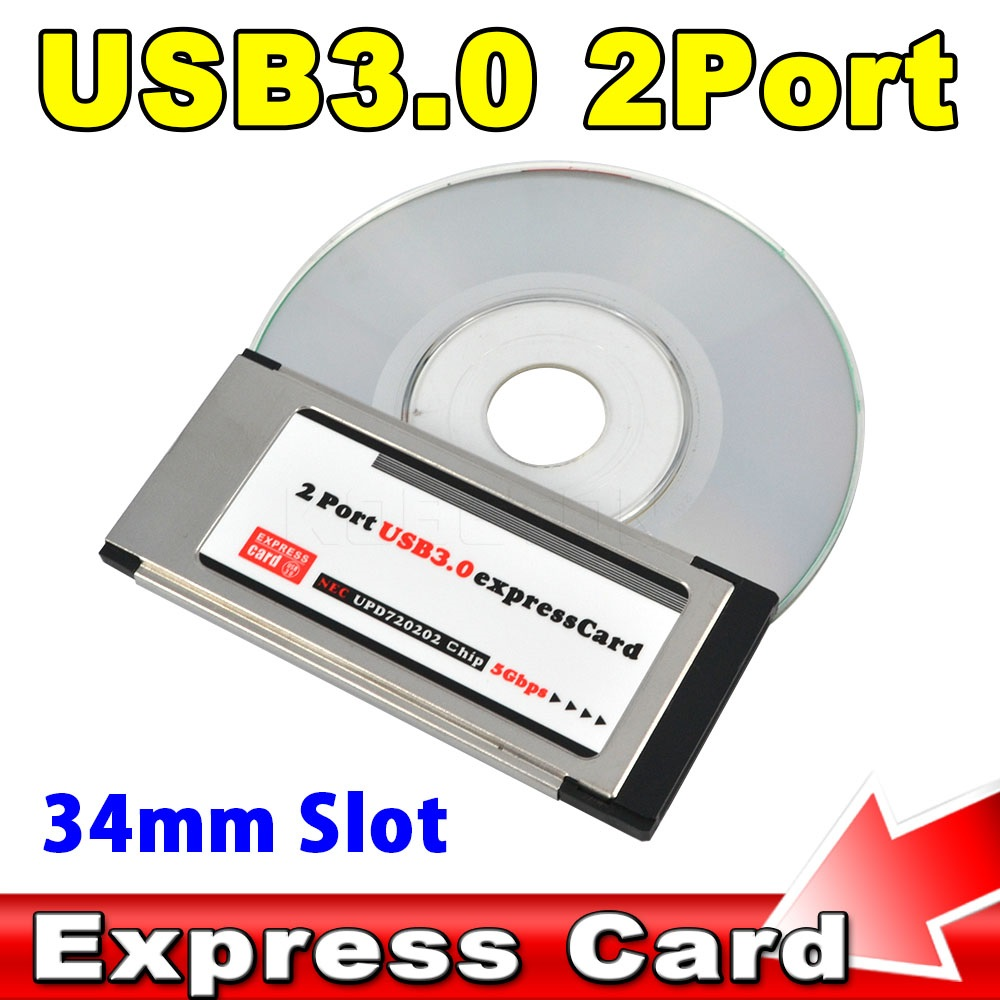 2016 pci express to usb 3 0 pci e card adapter 5 gbps pcmcia dual 2 ports for nec chipset 34 mm - Carte pci express 3 0 sur port 2 0 ...
