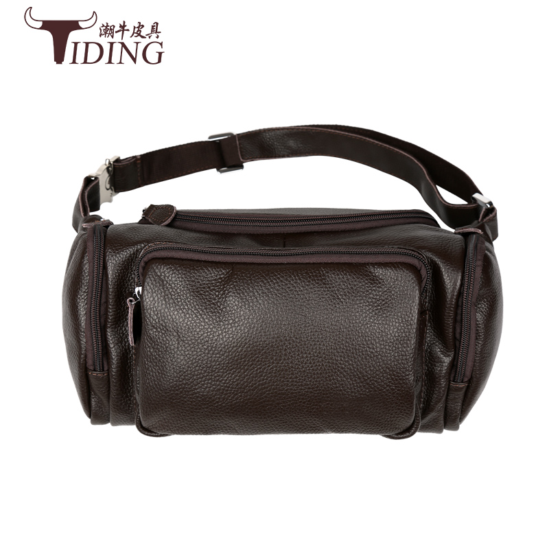 men travel bags genuine leather waist pack black fashion brand chest bag cow leather men's multifunction travel bag new lanspace men s leather shoulder bag real leather waist bag fashion leather travel bag