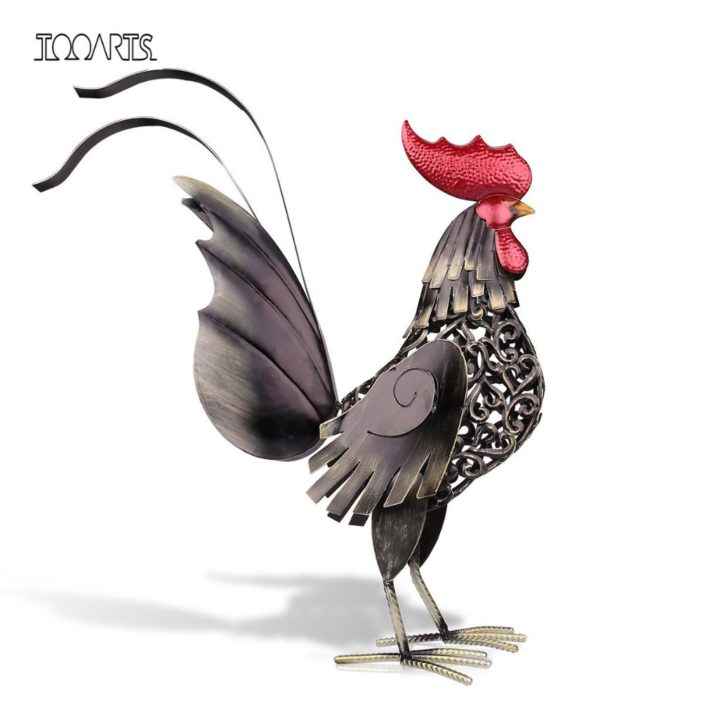 Popular metal rooster decor buy cheap metal rooster decor for Decoration jardin metal