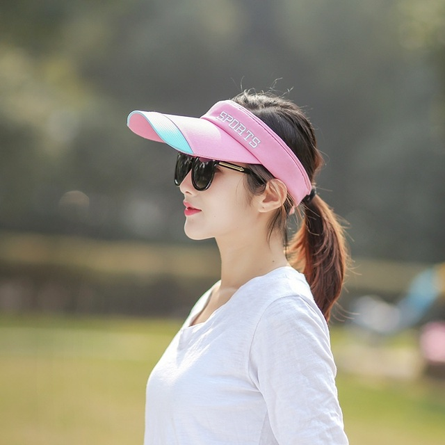 Women Clip-On Visor Embroidered Sunhat Chic Summer Cap Wide Brim  anti-ultraviolet Ourdoor Sport Hats Adjustable Size a715e2c2e9a