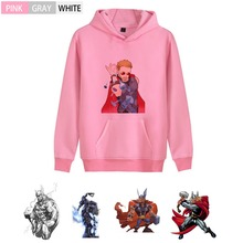 Thor Marvel Movie Graffiti Fashion Thick Anime Hoodie streetwear Kangaroo Pocket leisure Teen hoodie A193291