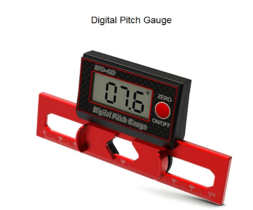 ФОТО Free Shipping SKYRC DPG-010 Digital Pitch Gauge LCD Display T-REX 550 450 500 700 250