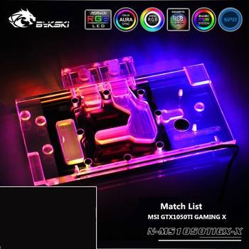 Bykski N-MS1050TIGX-X Full Coverage GPU Water Block For VGA MSI GTX1050TI GAMING X Graphics Card Heatsink