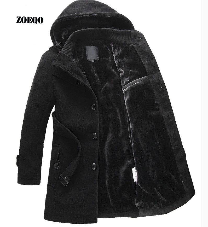 ZOEQO NEW Thick Longer Plus Size Coats Men Jacket Winter Overcoat Men's Trench Jacket Male Warm Winter Parka Men Plus Size 641(China)