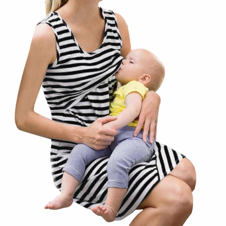 a32deeb6267fe13 ... Новинка 2017 года осень модная брендовая женская одежда Для женщин  Средства ухода за кожей для будущих мам кормящих грудью беременных платье  без рукавов ...