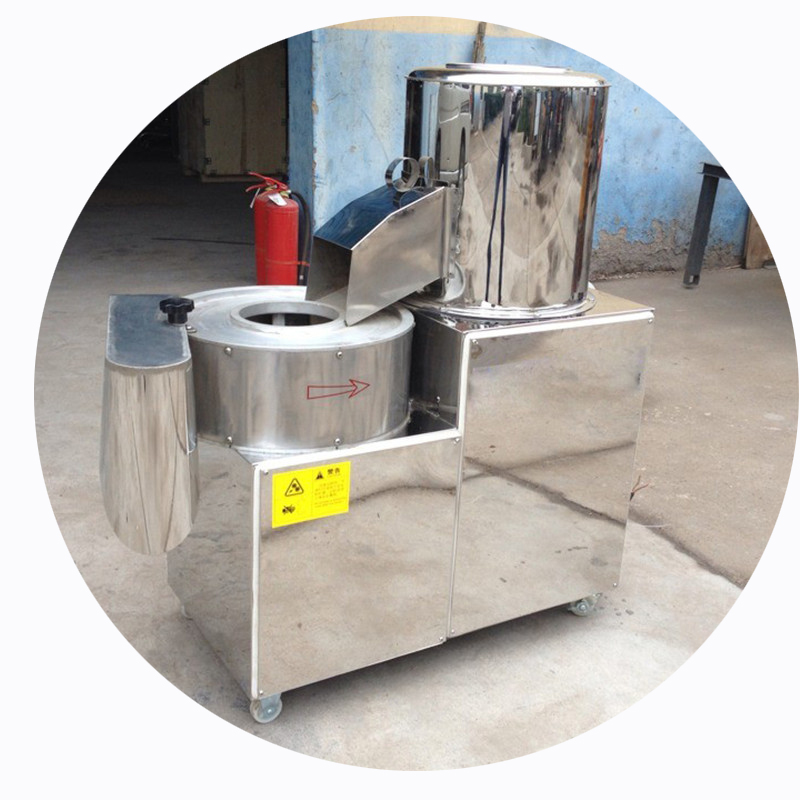 Automatic Industrial Potato Washing Peeling And Cutting Machine Tubers Peeler Slicer