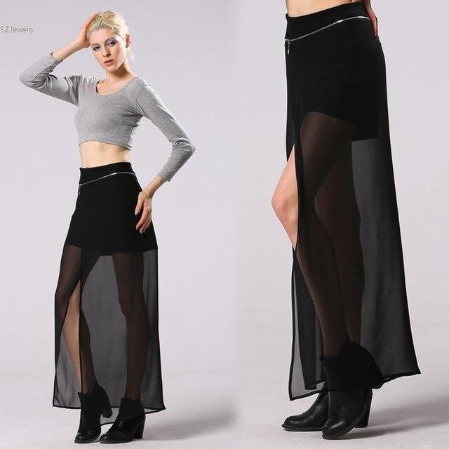 ab19163914 Caliente de la Mujer de La Falda Maxi Elástico de La Cintura Faldas Mujer  Falda Larga