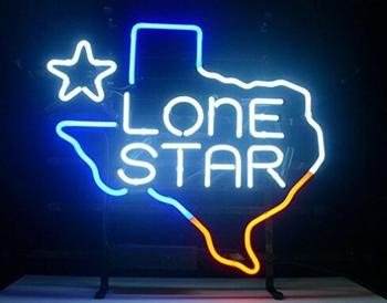 Texas Lone Star Glass Neon Light Sign
