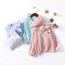 Новинка лета 2018 детская хлопковая куртка на молнии с капюшоном