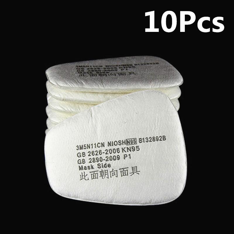10 Piezas Química Anti-polvo De La Pintura De Respirador De Soldadura Máscara De La Seguridad Industrial Máscara De Gas Filtros De Carbón Activado FabricacióN HáBil
