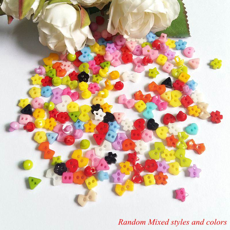 200pcs//Lots Wholesale DIY 5mm Tiny Mini Buttons Doll Wear Clothes Sewing Craft