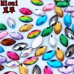 Micui 100pcs Rhinestones Crystal Stones Sewing Clothes 8a1c3e2570ff