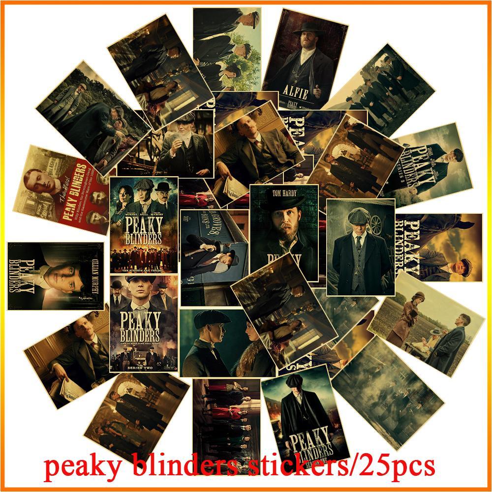 25 pièces/ensemble série TV biographie peaky blinders moto camion chambre TV réfrigérateur vélo étanche autocollant autocollant