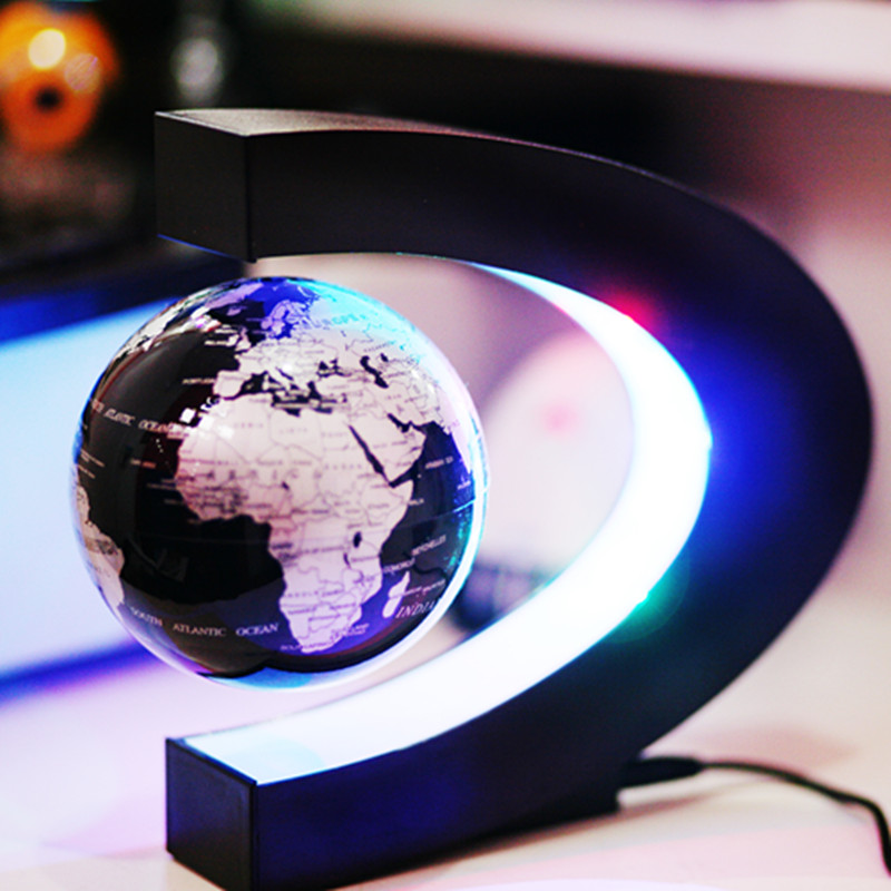 Hot Sale!!! C shape Decoration Magnetic Levitation Floating Globe World Map hot sale cayler
