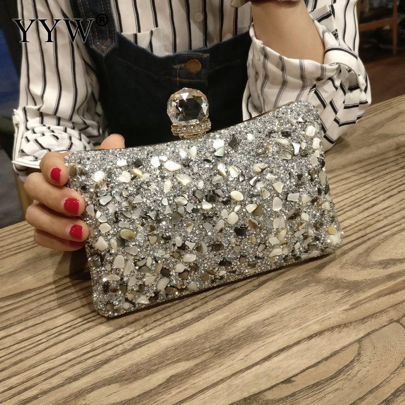Unparteiisch Frauen Tasche Finger Ring Diamanten Clutch Abend Kette Schulter Umhängetasche Hohe Qualität Strass Jäten Box Taschen 2019 Damentaschen