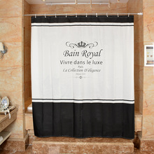 купить New Bathroom Shower Curtain 130g Of Polyester Cloth Crown Design Toilet Partition Curtain Waterproof Mouldproof Thickening по цене 1882.27 рублей