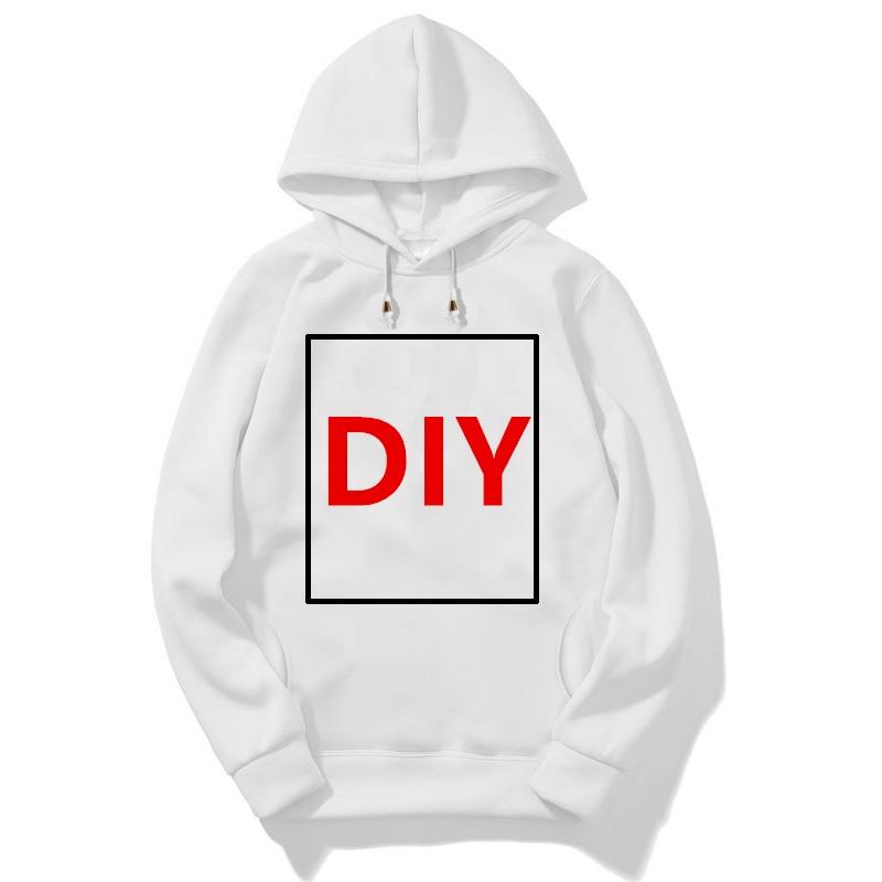 Homme bricolage sweats à capuche customisés Sweatshirts femmes automne hiver drôle imprimer votre image de conception Photo à capuche vêtements Streetwear