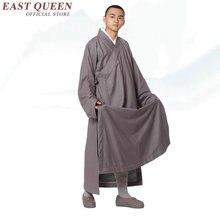 Новое поступление буддийский монах одежда мужской костюм монаха сплошной цвет форма для боевых искусств Халат большой размер 3xl 4xl 5xl 6xl AA2929 YQ
