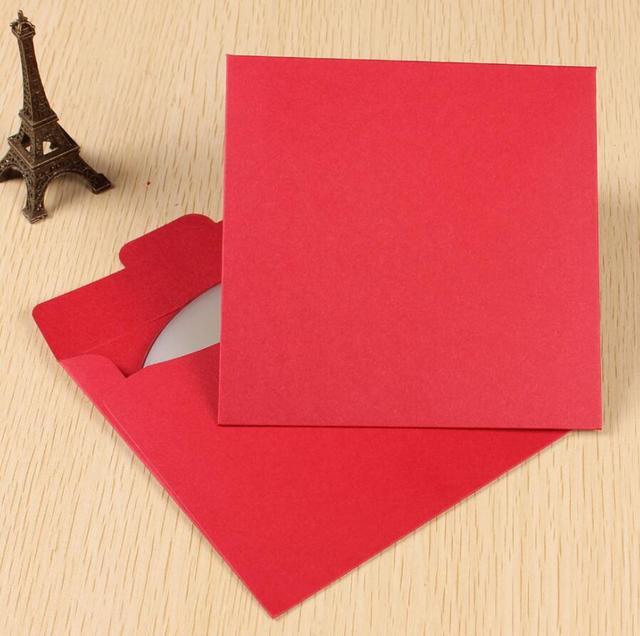 qi kraft paper cd cases for wedding dvd box wedding red paper cd