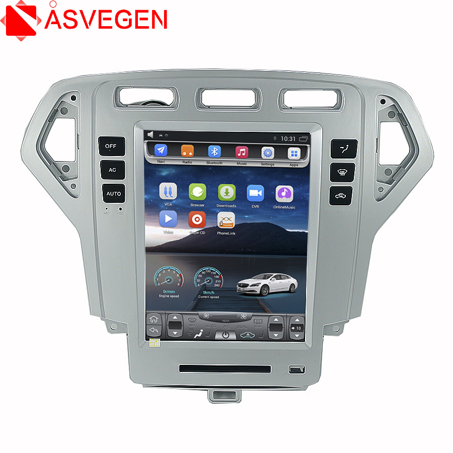 Asvegen 10.4 Android 6.0 Quad Core Car Radio For Ford Mondeo 4 2007-2010 GPS Navigation Stereo Headunit WIFI 4G Media Player