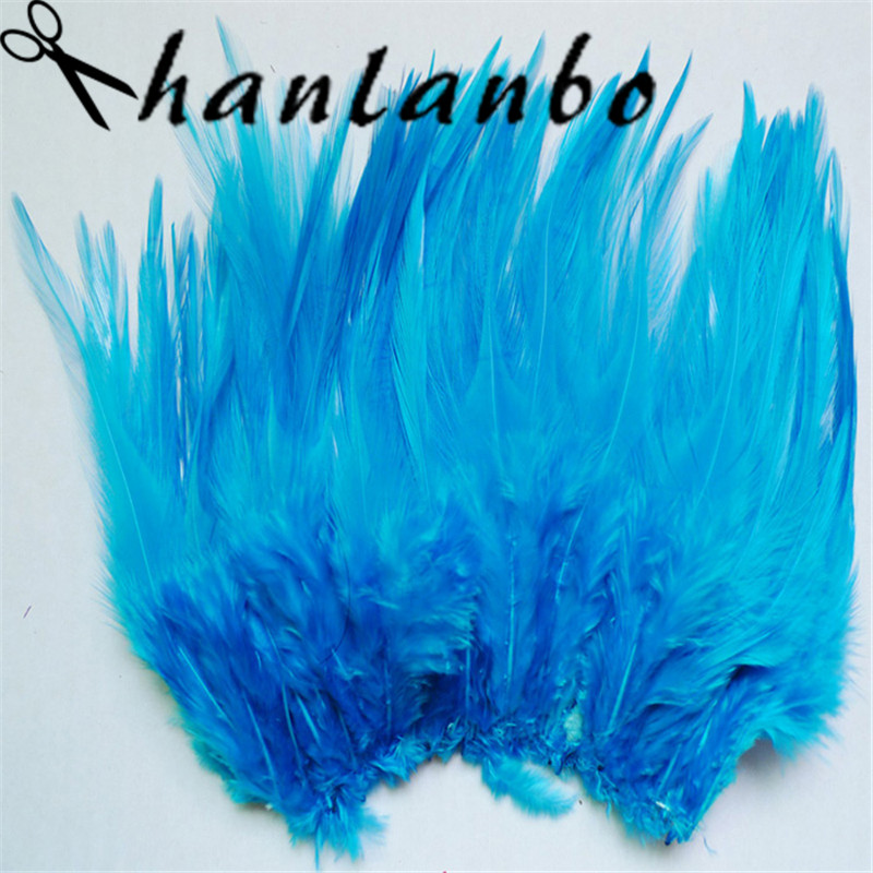 500pcs/lot 4-6inch dye blue feather rooster tail plumes Height (10-15cm) plumages for fly fishing party headdress decoration
