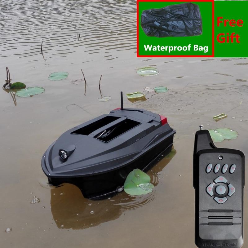 Free B Professional Fishing Equipment RC Bait Boat TL-380A Intelligent Auto Hook Wireless Silent RC Fishing Boat add LED Light