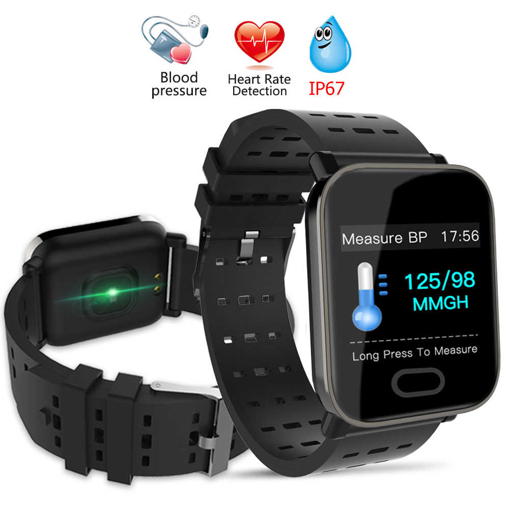 89bb6c8b7d4 A6 Smartwatch IP67 Waterproof Wearable Device Bluetooth Pedometer Heart  Rate Monitor Color Display Smart Watch For