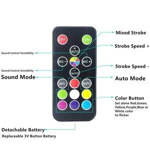 Image 2 - Super   Bright RGB Strobe แสง 25 W 108 SMD5050 LED Stage Effect light อัตโนมัติเสียงเปิดใช้งาน Party DJ Disco ปาร์ตี้ KTV Stage ไฟ