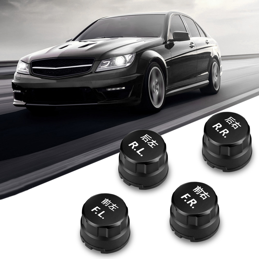 VC601B Car BLE TPMS Tire Pressure Alarm System Bluetooth Waterproof App Connecting Smart Phone with 4 External Sensors