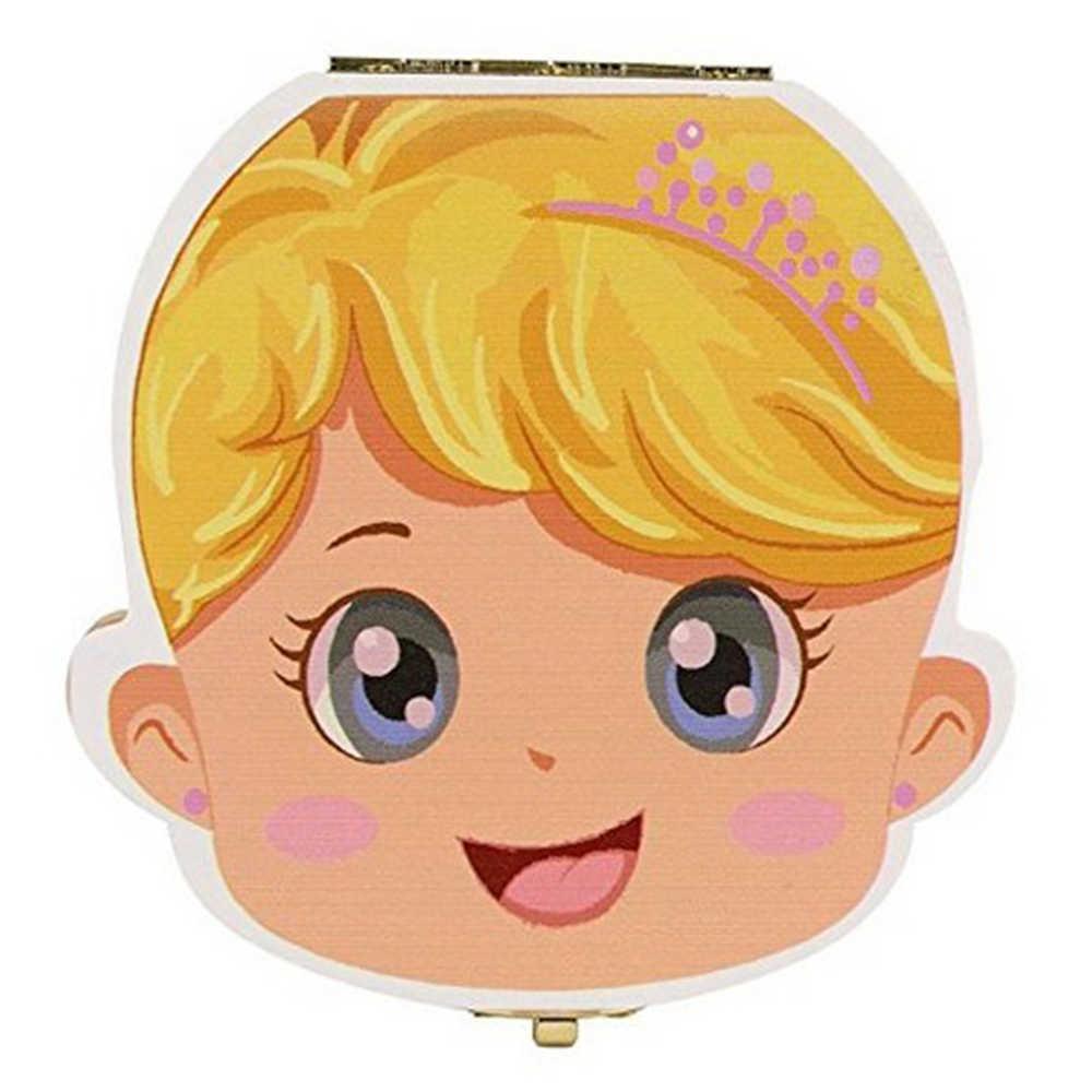 นมฟัน Organizer สเปน/ภาษาอังกฤษฟันกล่องเด็กของขวัญของที่ระลึกฟันสำหรับเด็กของขวัญ