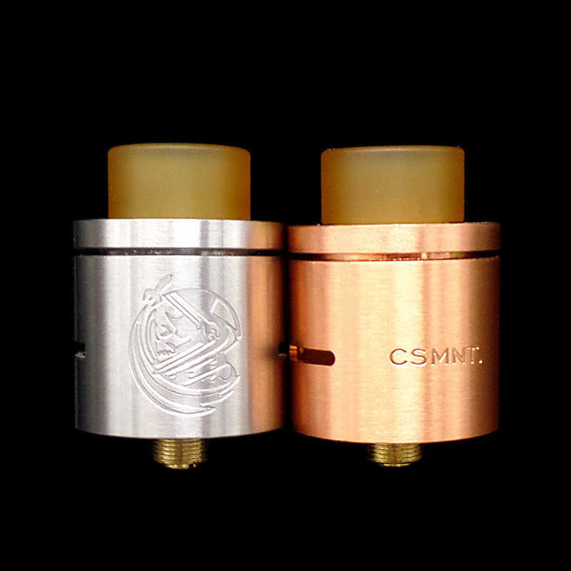 CYAN CSMNT RDA Atomizer 22mm Diameter RDA e Cigarettes Tank Rebuildable Dripping Freestyle Coil Vaporizer for Vape Box Mod