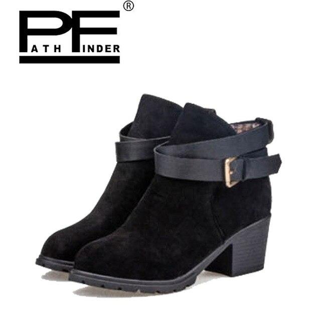 pathfind 2018 women boots black red high heel casual fashion luxury
