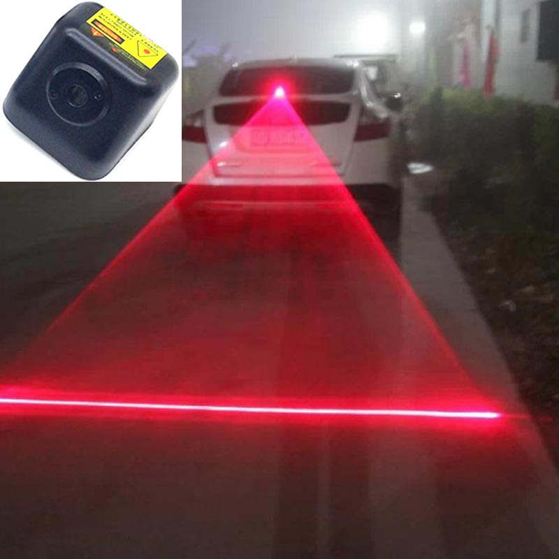 FUGSAME Laser Fog Light Rear Anti-Collision Driving Safety Signal Warning Lamp Security System for Car Motor Truck Tractor 12v car laser fog lights for chrysler 300 1998 2004 rear tail warning lamp vehicle collision warning traffic crash proof light