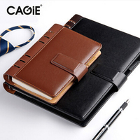 CAGIE 2016 Business Vintage Daily Memos Notebook Pu Leather A6 A5 B5 Spiral Composition Book Diary