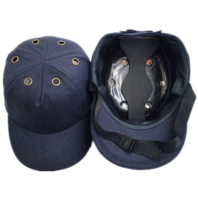 Yumru şapka Çalışma emniyet kaskı ABS Iç kabuk beyzbol şapkası Tarzı Koruyucu Sert Şapka Iş Giysisi Kafa Koruma Top 6 Delikli