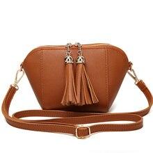 SUONAYI Women Scrub Leather Design Crossbody Bag Girls With Tassel Colorful Strap Shoulder Bag Female Small Flap Handbag все цены