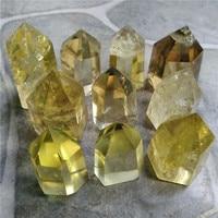 10pcs Crystals Quartz Wand Chevron Amethyst Citrine Rose Crystal Quartz Black Obsidian Smokey Point Healing Stones Chakra Piedra