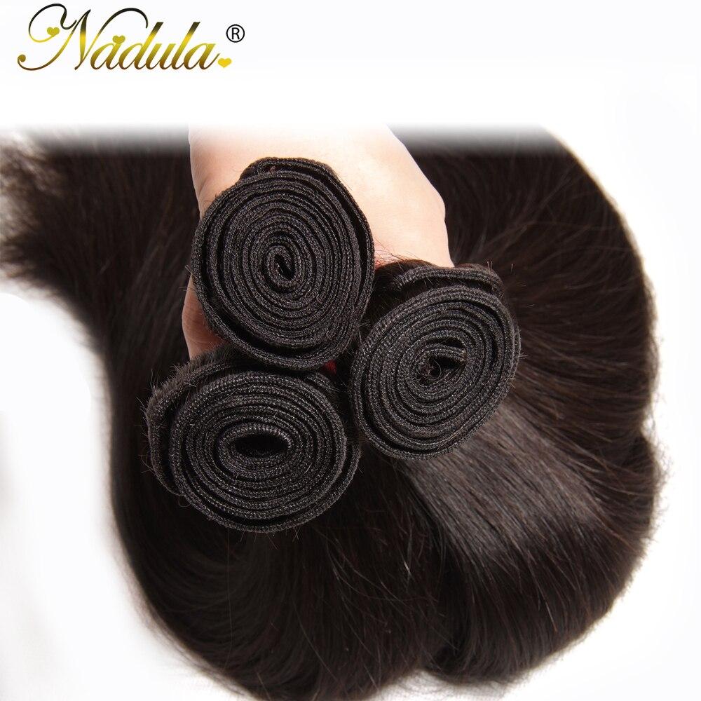Nadula 3 Bundles Indian Hair Straight  s 3piece/Lot Indian Straight Hair Bundles Natural Color  Hair 4