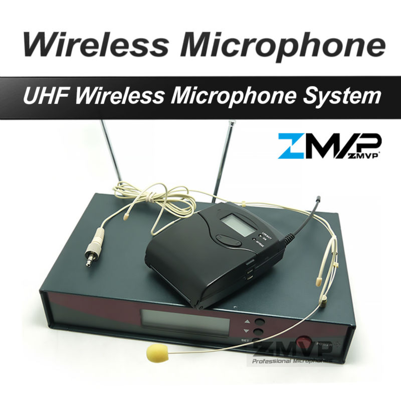 Free Shipping! 122 G2 Professional UHF Wireless Microphone Wireless System With BodyPack Transmitter Headset Headworn Mic free shipping uhf professional sx 14 wireless microphone with bodypack transmitter lapel lavalier clip mic band r5 800 820mhz