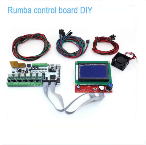 DIY BIQU Rumba 3D printer Rumba control board+LCD 12864 controller display+jumper wire+A4988 or DRV8825 for reprap 3D printer 1 pcs ramps1 4 lcd 12864 control panel 3d printer smart controller lcd display free shipping drop shipping l101