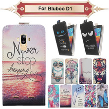 Top Selling 11 Colors Cartoon Pattern Up and Down Flip PU Leather Case For Bluboo D1