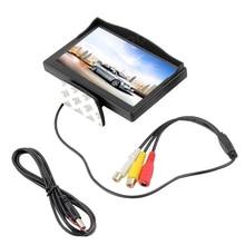 5 Pulgadas Del Monitor Del Coche para el Estacionamiento de Copia de seguridad Cámara de visión trasera DVD VCD 2 Entradas de Vídeo TFT LCD de Pantalla 800×480