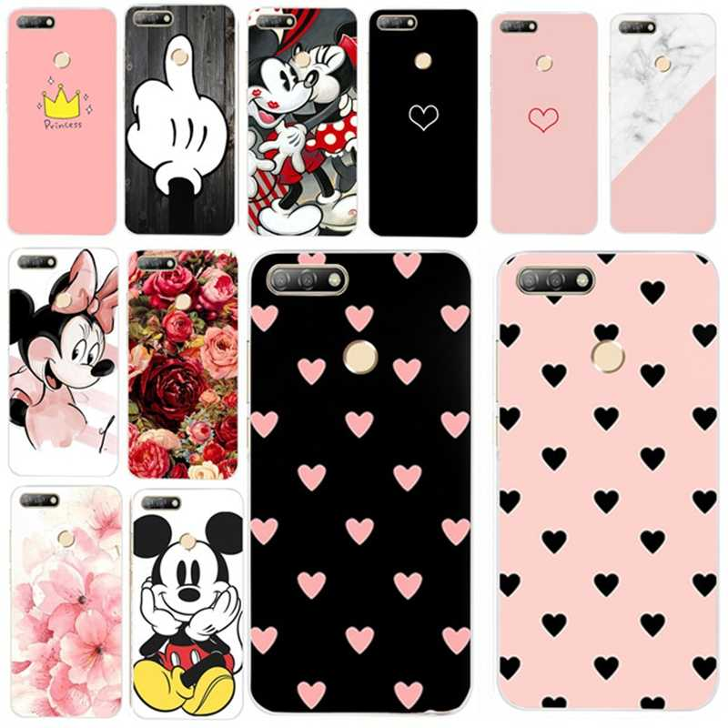 Silicone Cover For Huawei Honor 7A pro Case 5.7' Y6 2018 Cute Cases for Huawei Honor 7 A Honor7A pro Y6 Prime 2018 Fundas Coque